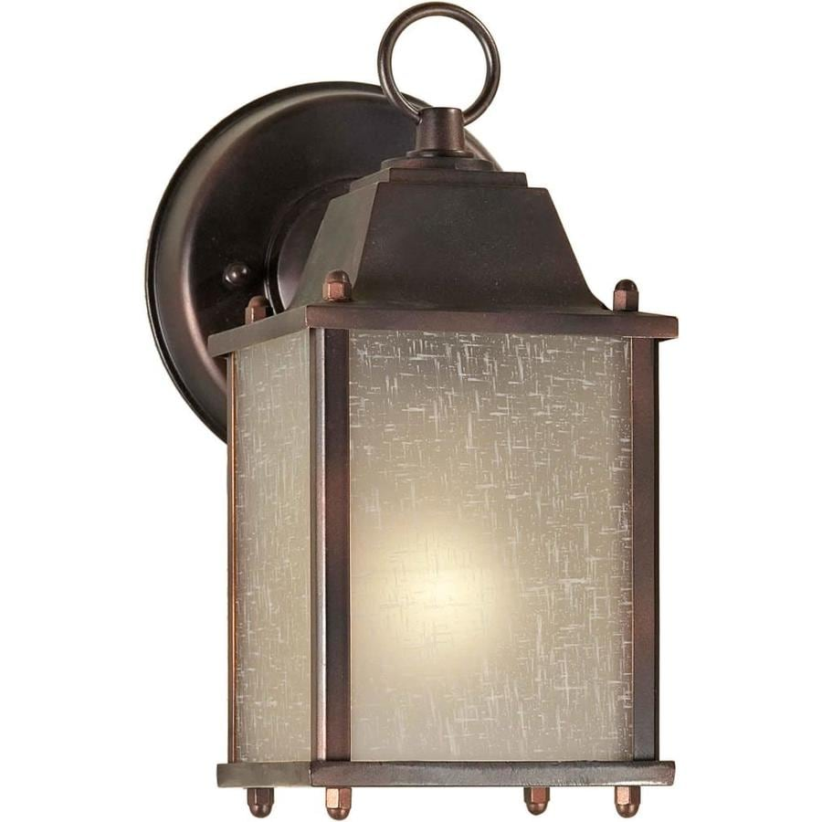 9-in H Antique Bronze Outdoor Wall Light