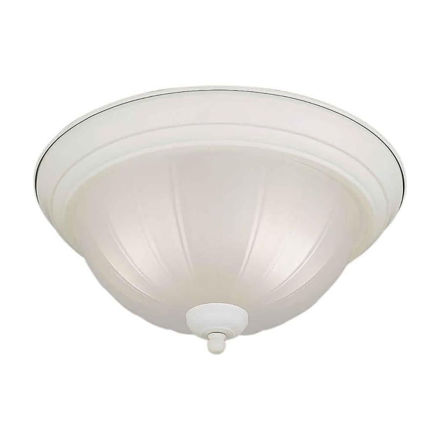11.25-in W White Flush Mount Light