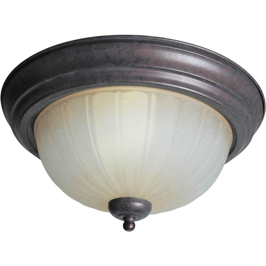 13.25-in W Black cherry Flush Mount Light