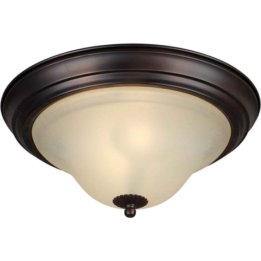 11.25-in W Antique Bronze Flush Mount Light