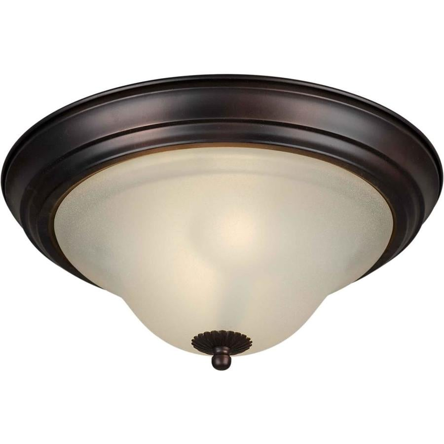 13.25-in W Antique Bronze Ceiling Flush Mount Light