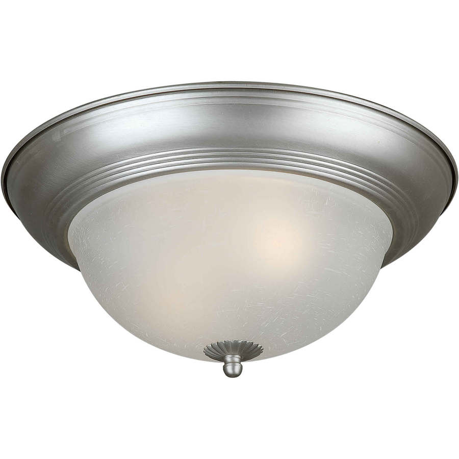 14-in W Brushed Nickel Flush Mount Light