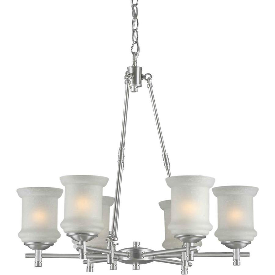 Shandy 26-in 6-Light Brushed Nickel Candle Chandelier