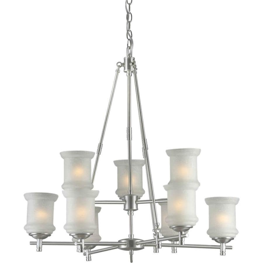 Shandy 31-in 9-Light Brushed Nickel Tiered Chandelier
