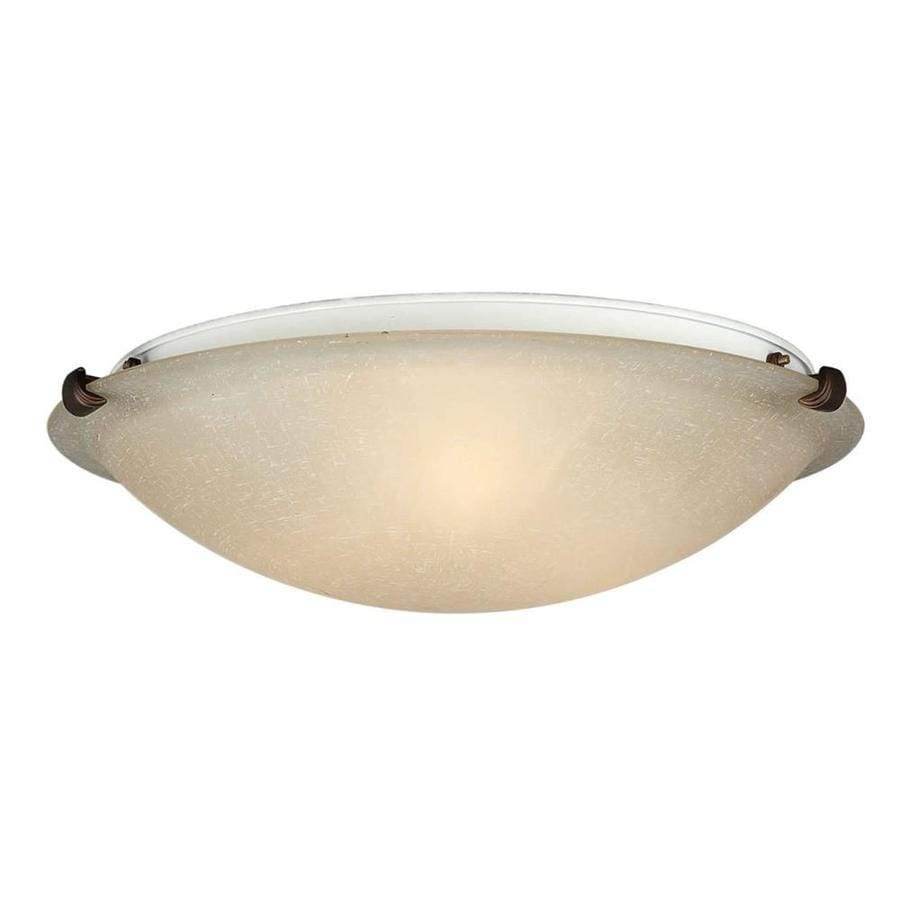 16-in W Antique bronze Flush Mount Light