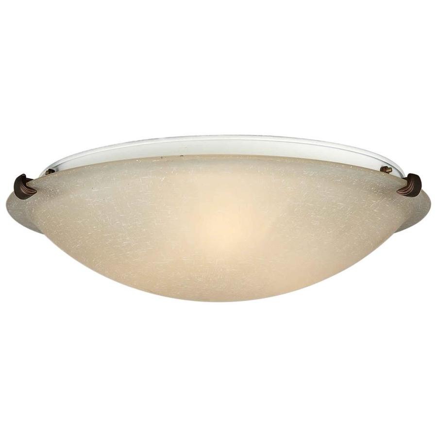20-in W Antique Bronze Standard Flush Mount Light