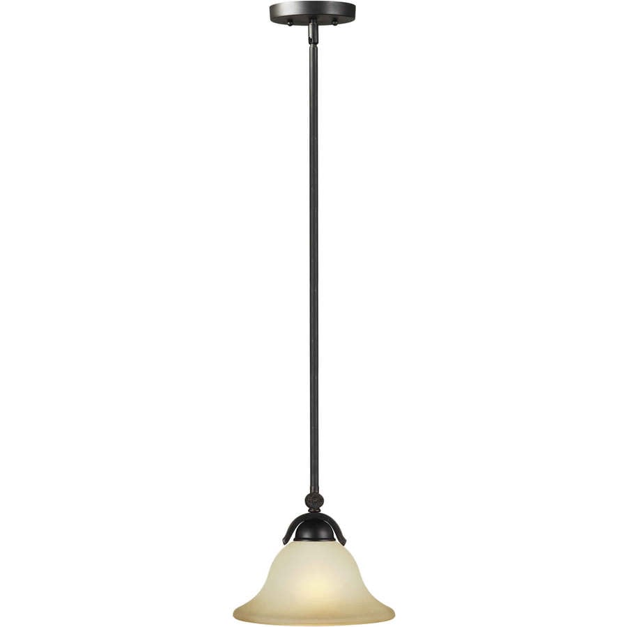 Shandy 10-in Bordeaux Single Tinted Glass Pendant