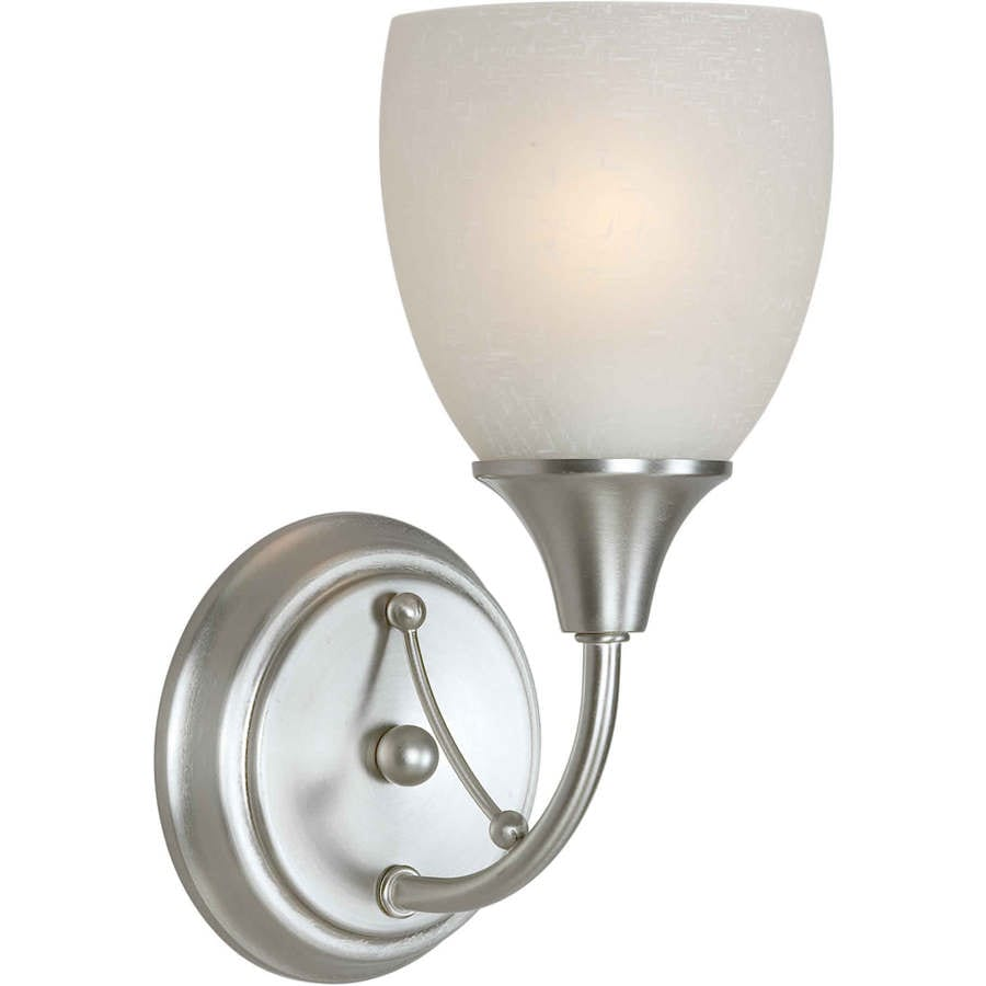 Shandy 4.75-in W 1-Light Brushed Nickel Arm Wall Sconce