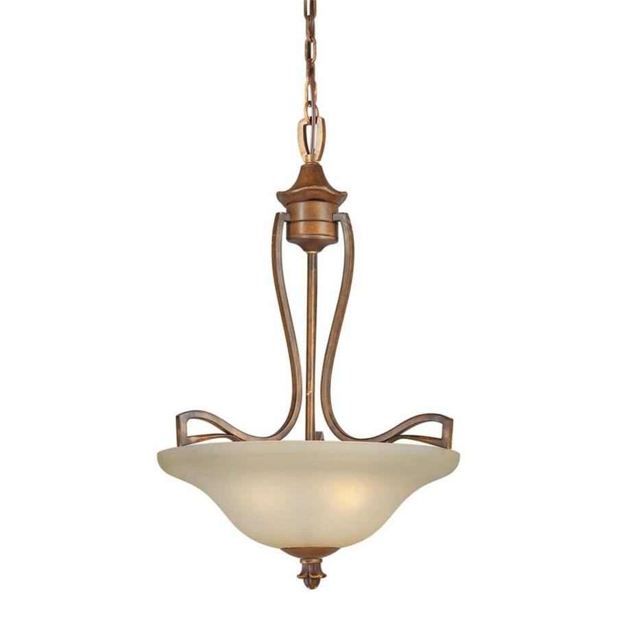 Shandy 19.5-in Rustic Sienna Single Tinted Glass Pendant