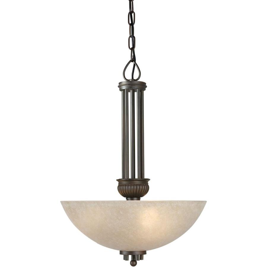 Shandy 16-in Antique Bronze Single Tinted Glass Pendant
