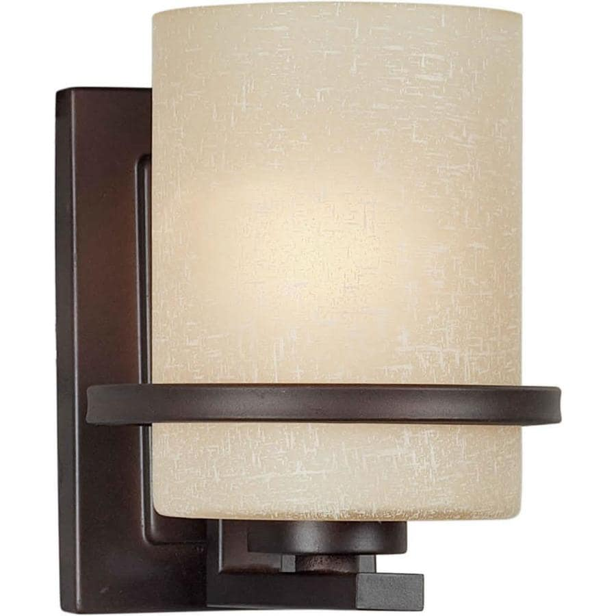 Wall Sconces At Lowes : Shop Barringer 5-in W 1-Light Antique Bronze Arm Wall Sconce at Lowes.com