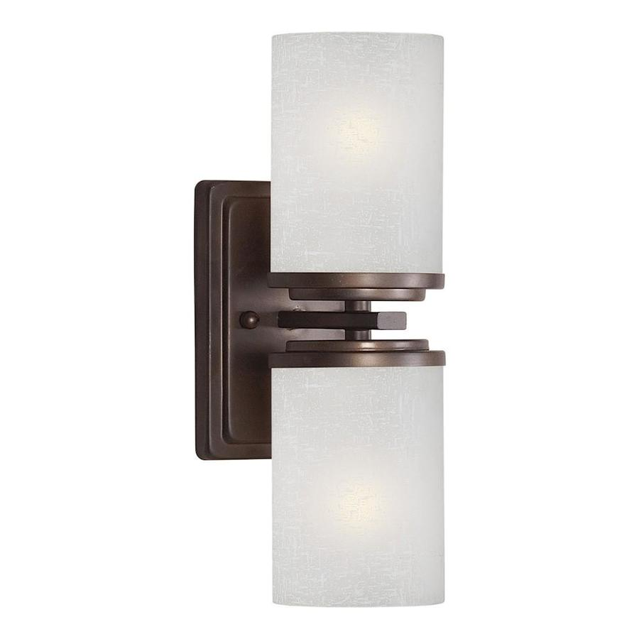 Massto 4.5-in W 2-Light Antique bronze Arm Wall Sconce