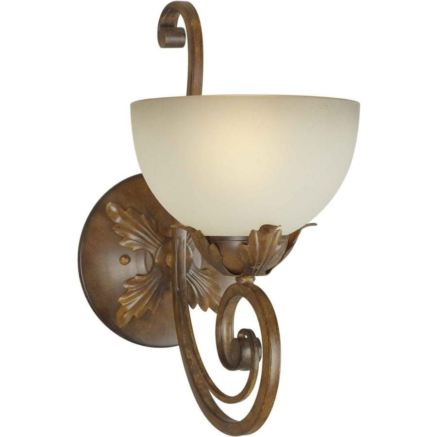 Shandy 7.75-in W 1-Light Rustic Sienna Arm Wall Sconce