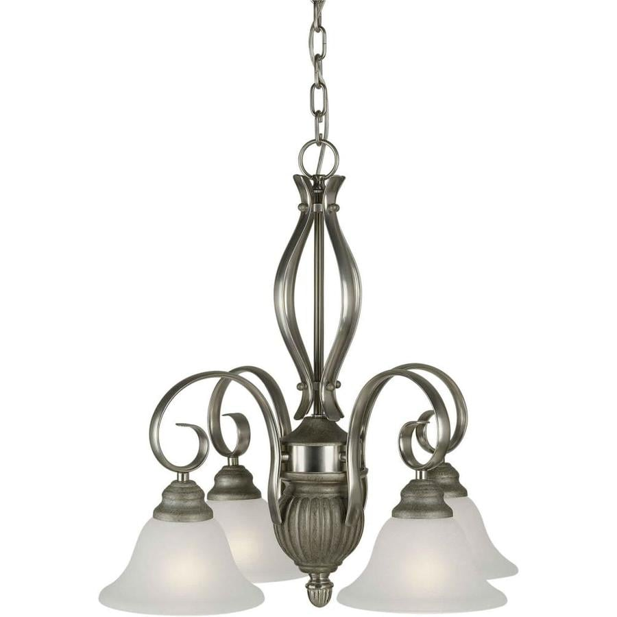 Shandy 23-in 4-Light River Rock Candle Chandelier