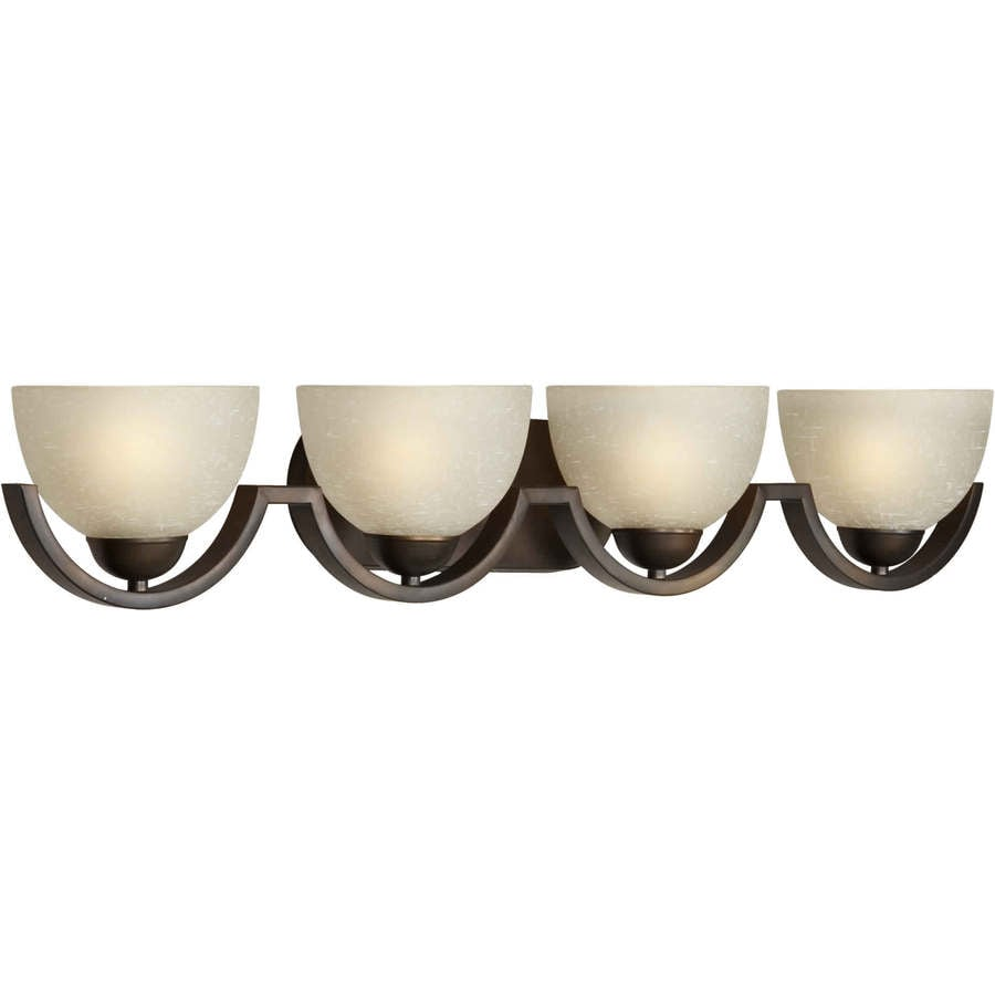 4-Light Shandy Antique Bronze Bathroom Vanity Light