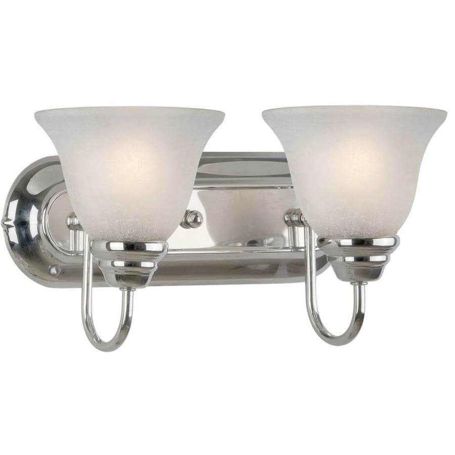 Shandy 2-Light 10-in Chrome Vanity Light
