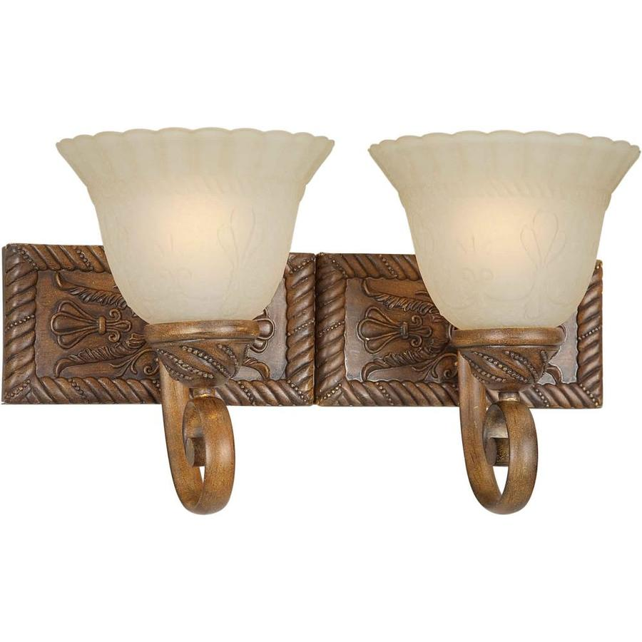 Shandy 2-Light Rustic Sienna Vanity Light
