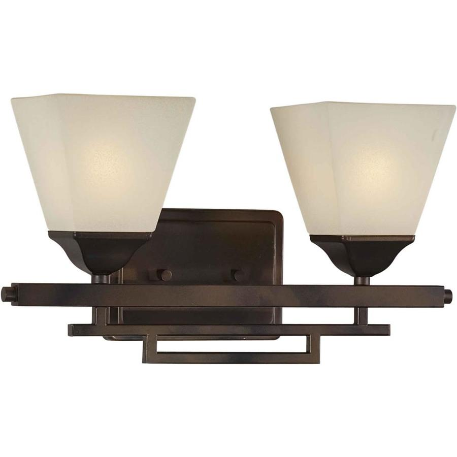 Shandy 2-Light 9-in Antique Bronze Vanity Light