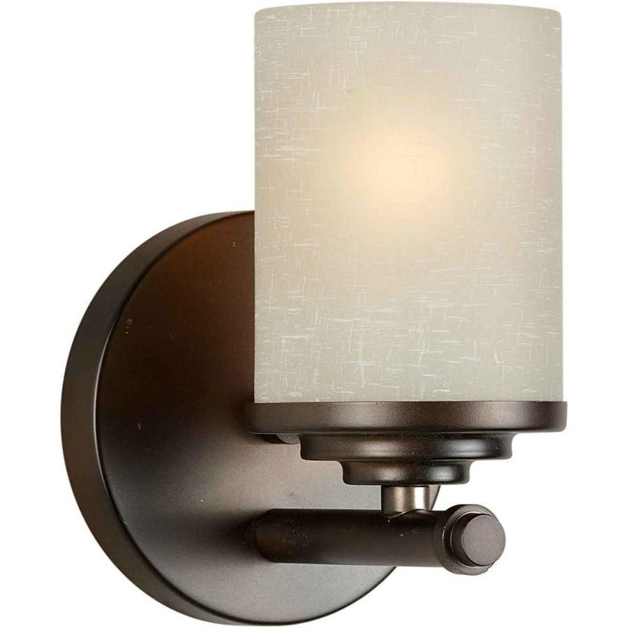 Vanity Lights Not Hardwired : Shop Shandy 1-Light 7-in Antique bronze Vanity Light at Lowes.com