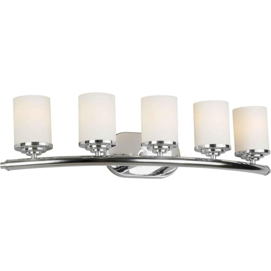 5 Light Bathroom Vanity Light: Shop Shandy 5-Light Chrome Vanity Light At Lowes.com