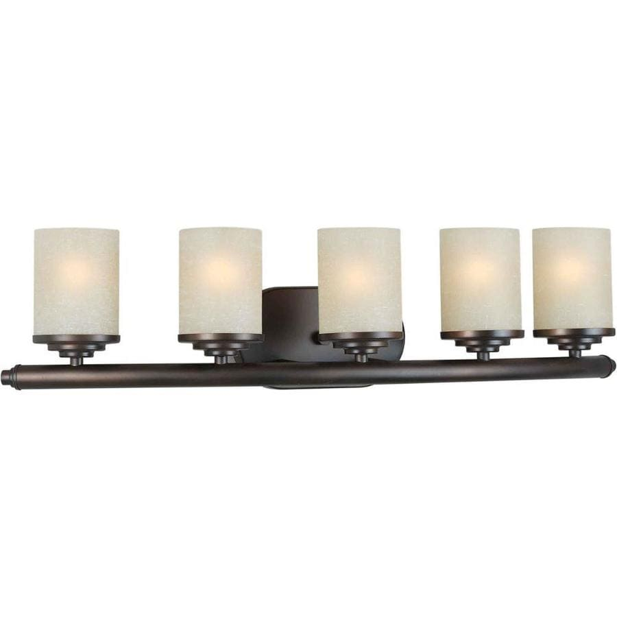 Vanity Lights Not Hardwired : Shop Shandy 5-Light 7-in Antique Bronze Vanity Light at Lowes.com