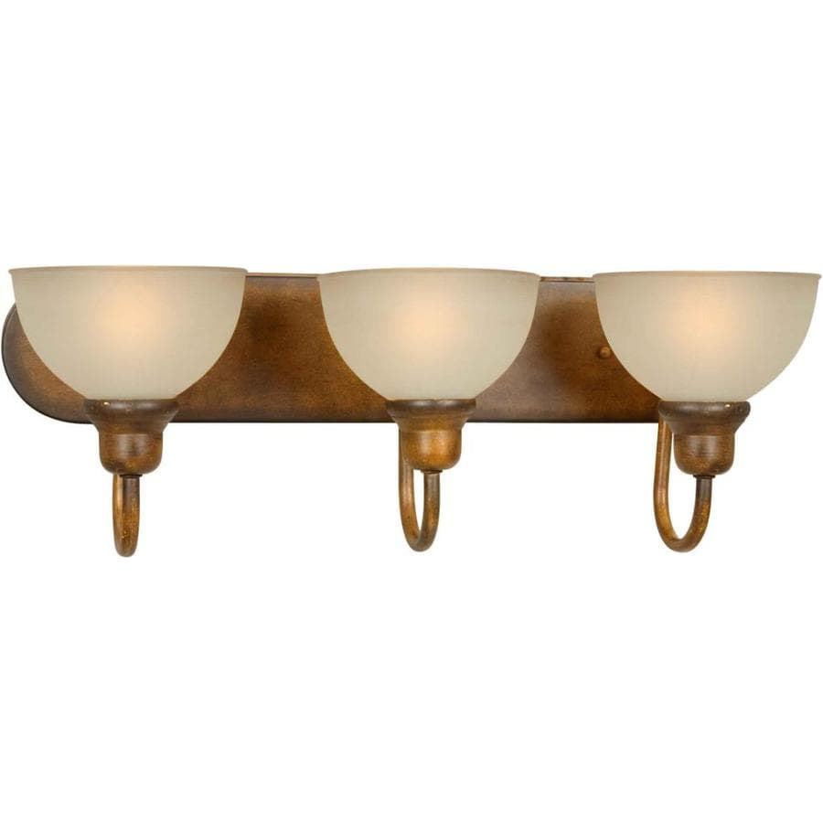 Shandy 3-Light 8-in Rustic Sienna Vanity Light