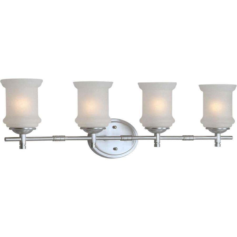 4 Light Brushed Nickel Vanity Lights : Shop Shandy 4-Light 9-in Brushed Nickel Vanity Light at Lowes.com