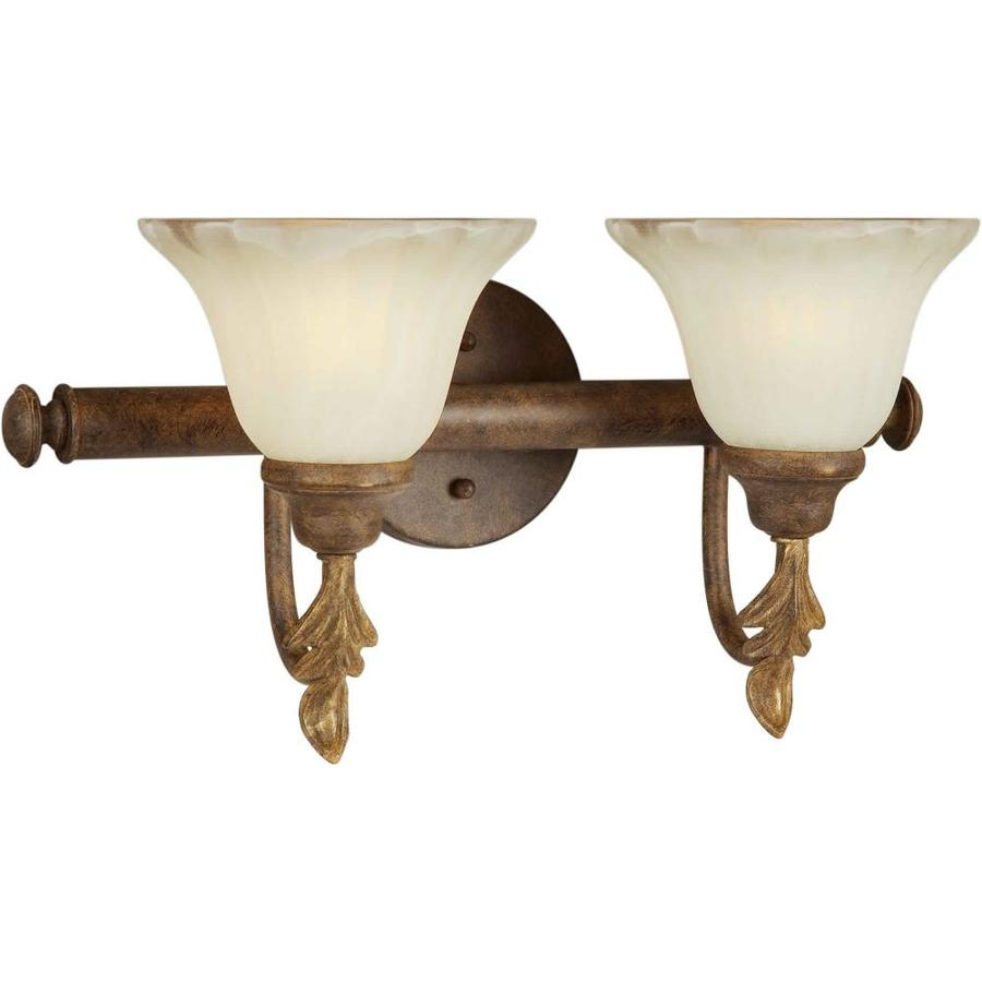 Shandy 2-Light 11-in Chestnut Vanity Light