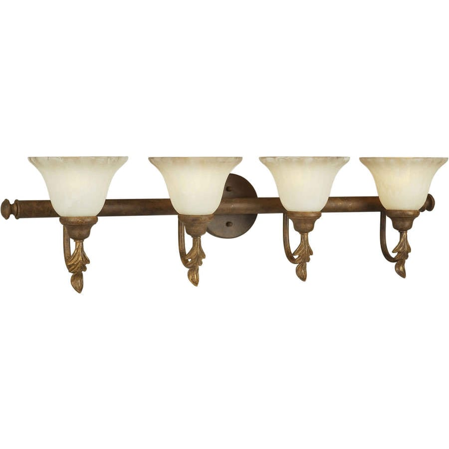 Shandy 4-Light 11-in Chestnut Vanity Light