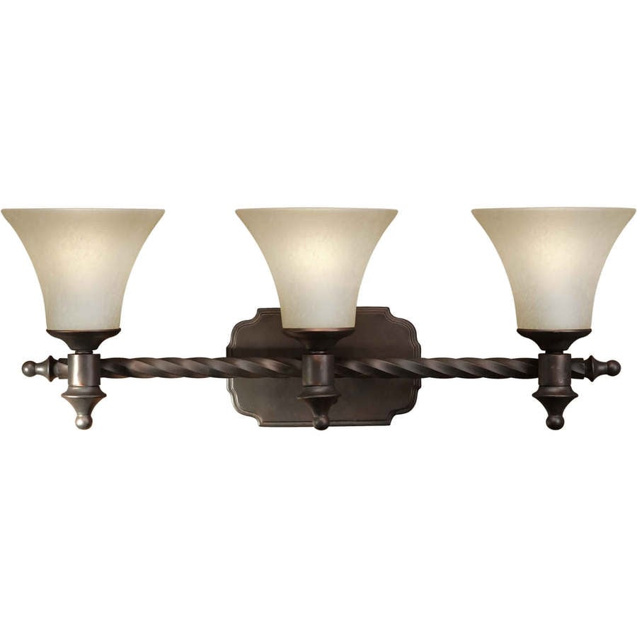 Shandy 3-Light 10-in Antique Bronze Vanity Light