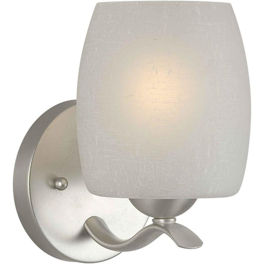 Shandy 1-Light 8-in Brushed Nickel Vanity Light