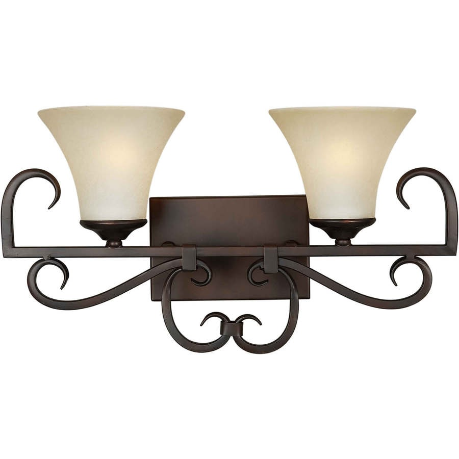 Shandy 2-Light 10-in Antique Bronze Vanity Light