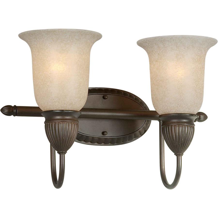 Shop 2 Light Shandy Antique Bronze Bathroom Vanity Light At