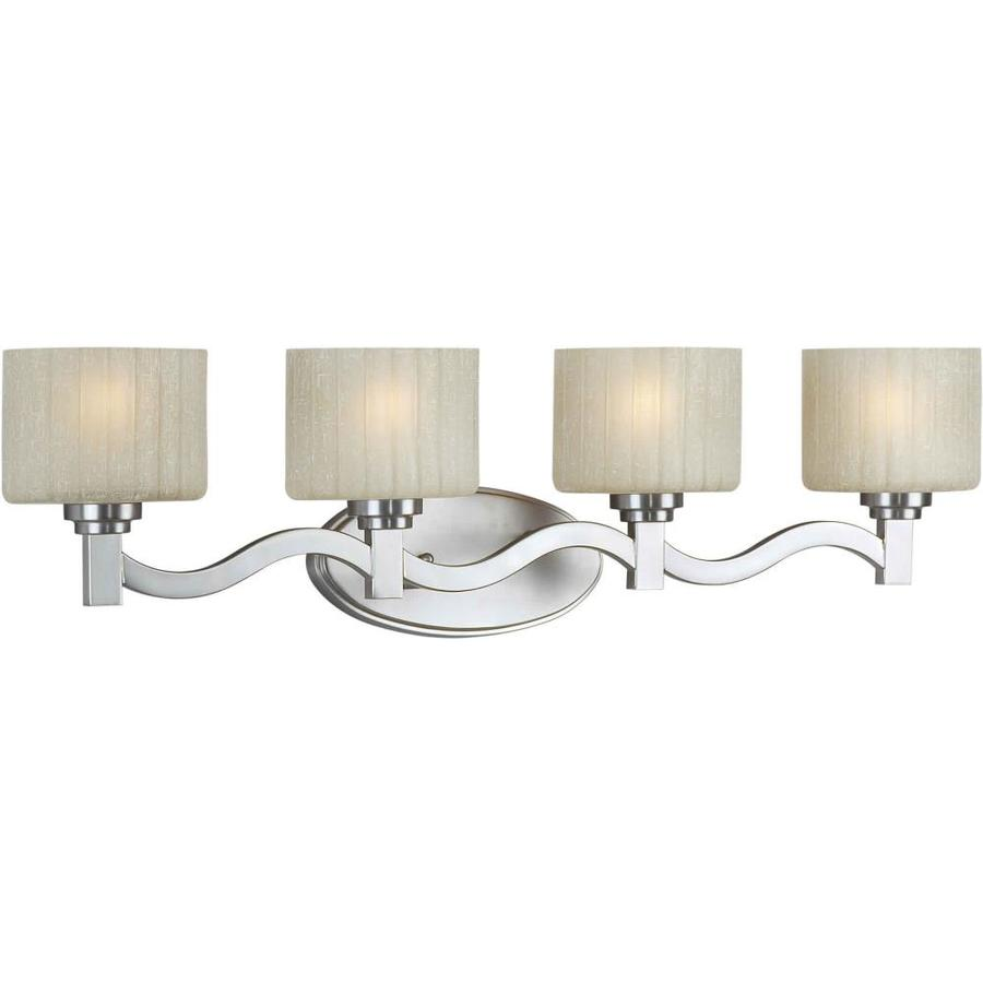 Shandy 4-Light 7-in Brushed nickel Vanity Light