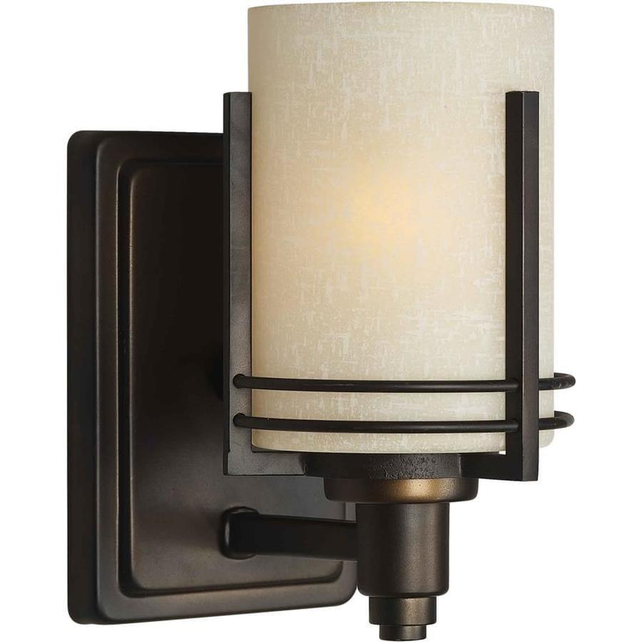 Shandy 1-Light 9-in Antique Bronze Vanity Light