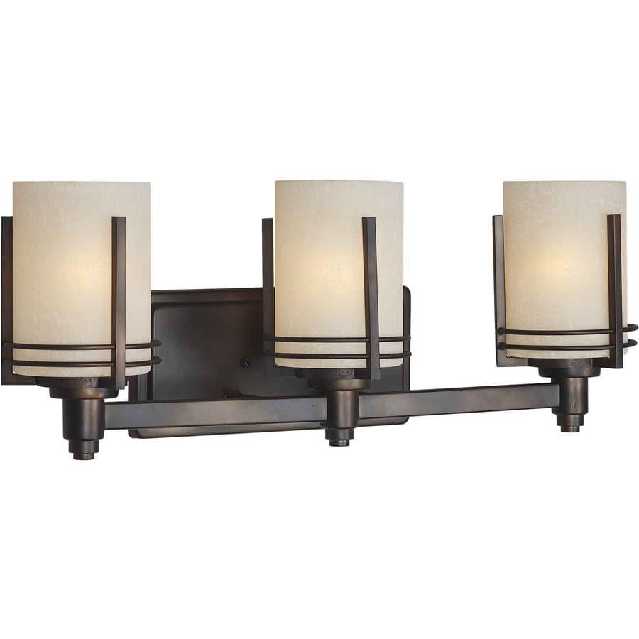 Shandy 3-Light 9-in Antique bronze Vanity Light