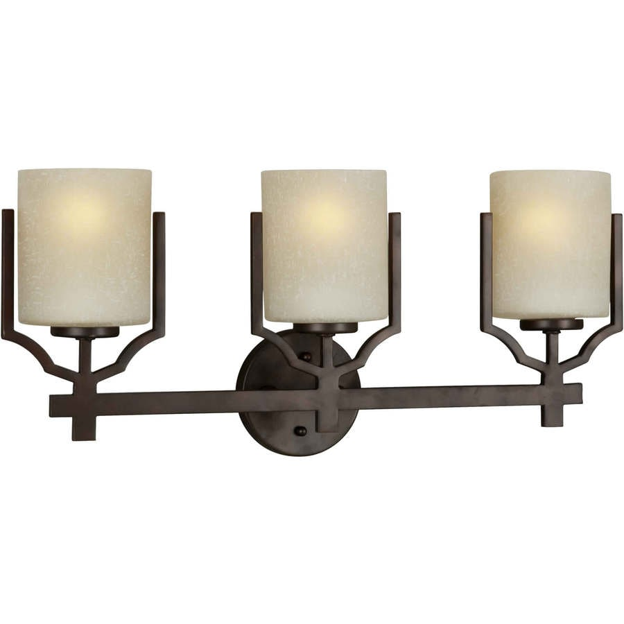 Antique Bathroom Vanity Lights : Shop Shandy 3-Light 11-in Antique Bronze Vanity Light at Lowes.com