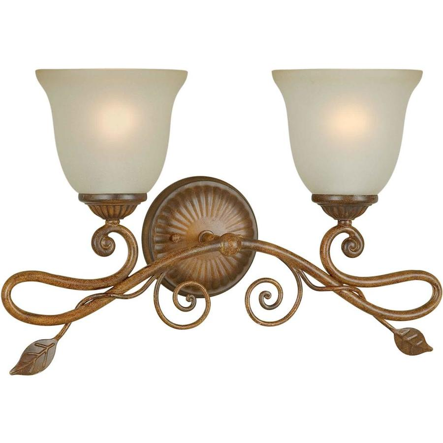 Shandy 2-Light 12-in Rustic Sienna Vanity Light