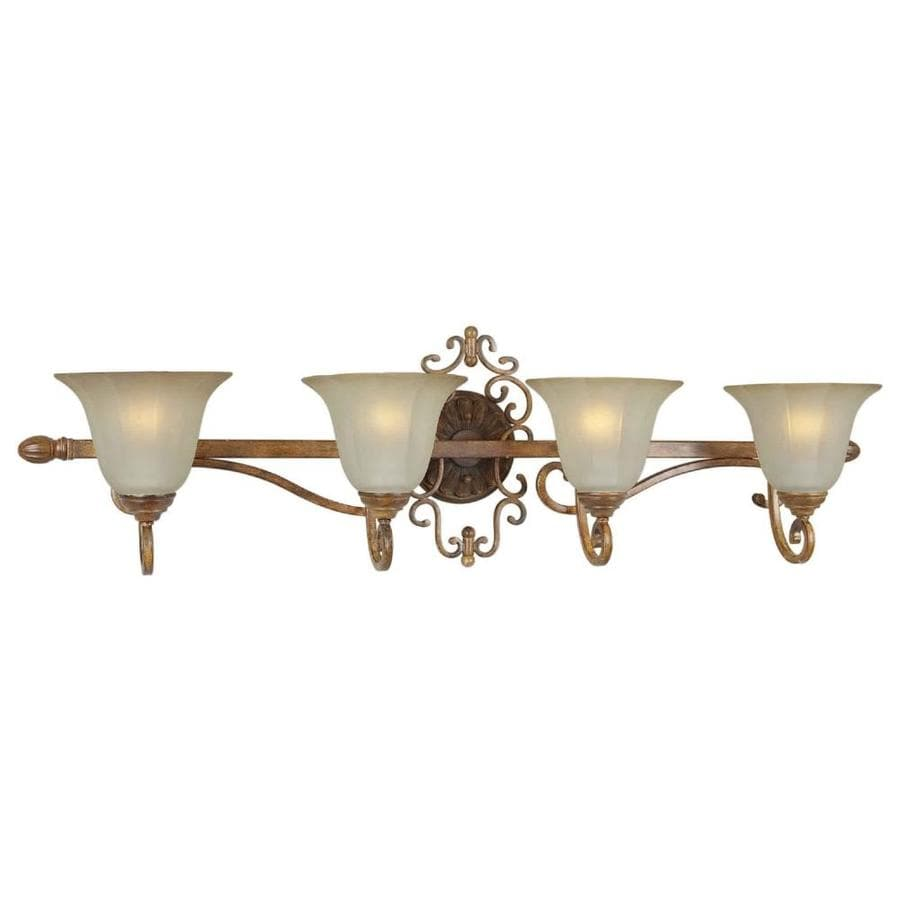 Shandy 4-Light 12-in Rustic Sienna Vanity Light