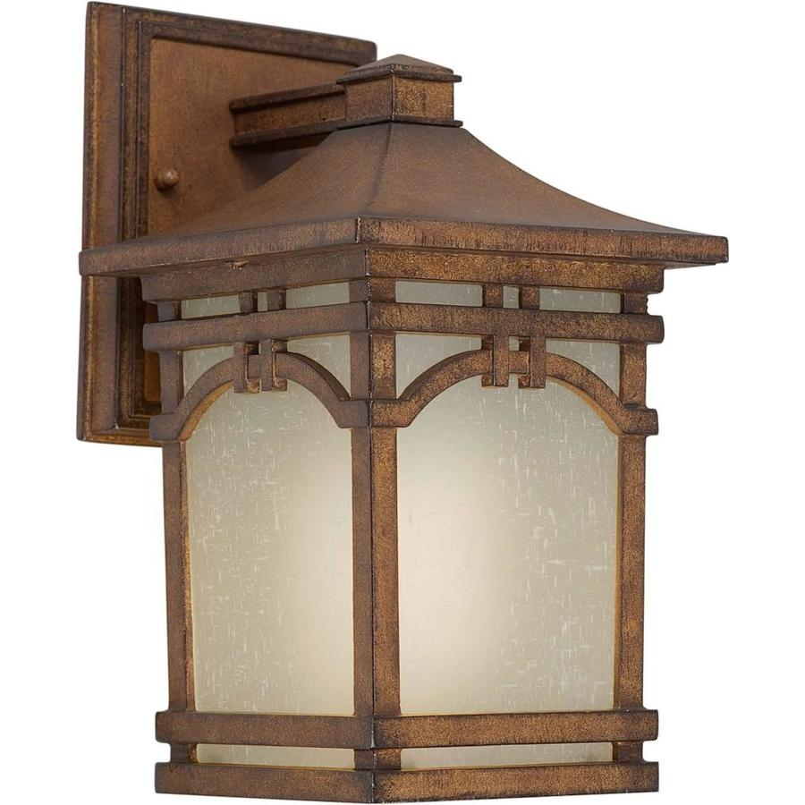 Rustic Bathroom Lighting Lowes: Shop 10-in H Rustic Sienna Outdoor Wall Light At Lowes.com