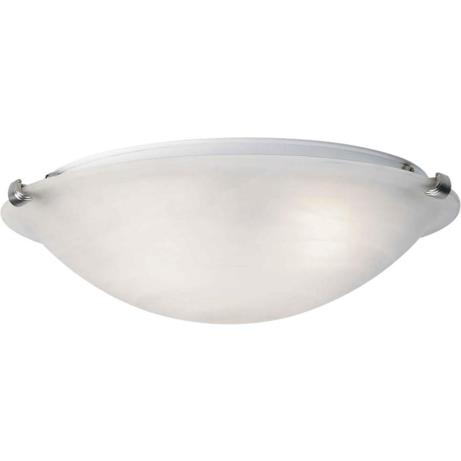 16-in W Brushed Nickel Standard Flush Mount Light