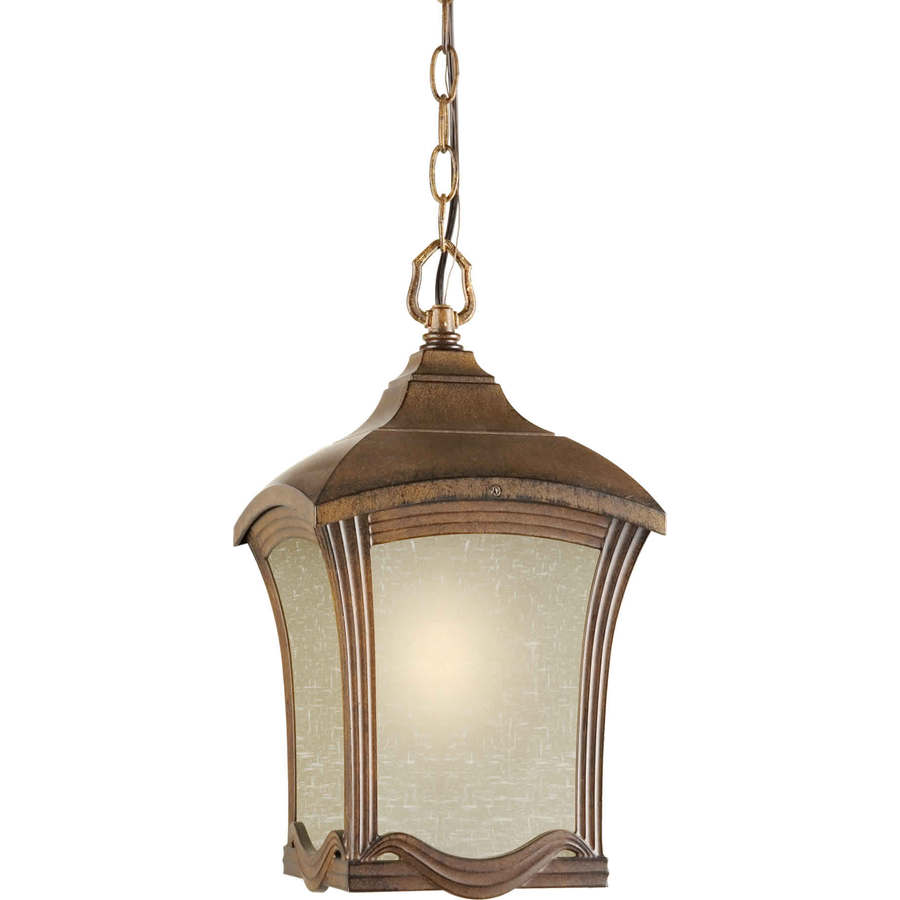 Parthaon 16.5-in Rustic Sienna Outdoor Pendant Light