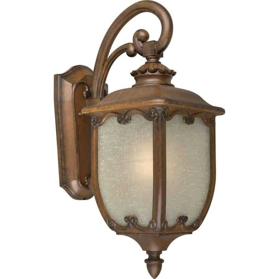 15-in H Rustic Sienna Outdoor Wall Light