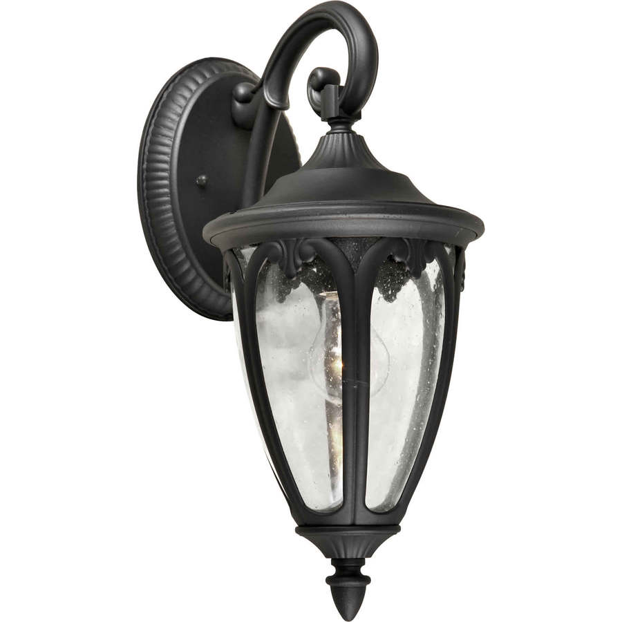 18-in H Black Outdoor Wall Light