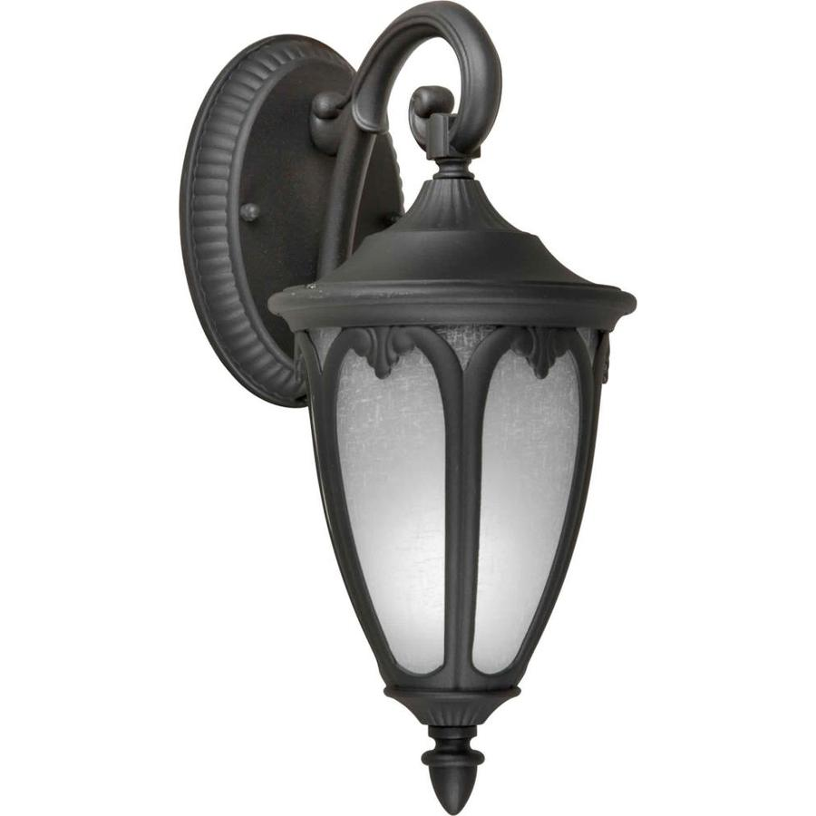 13-in H Black Outdoor Wall Light