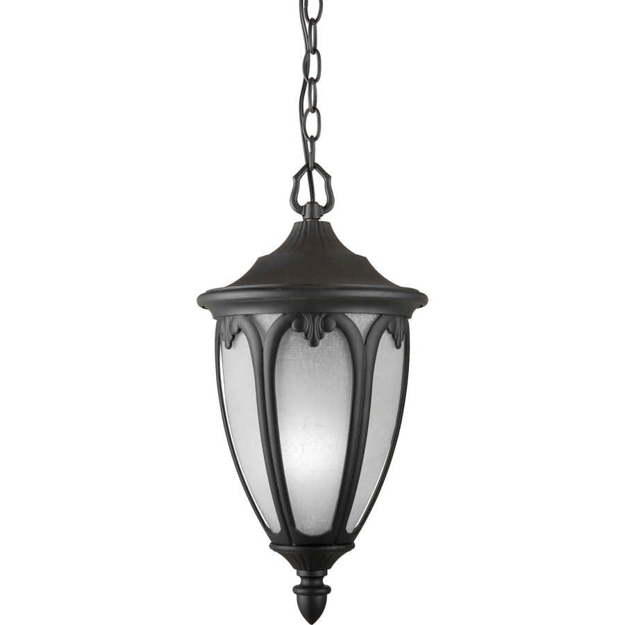 Cinyras 17.75-in Black Outdoor Pendant Light