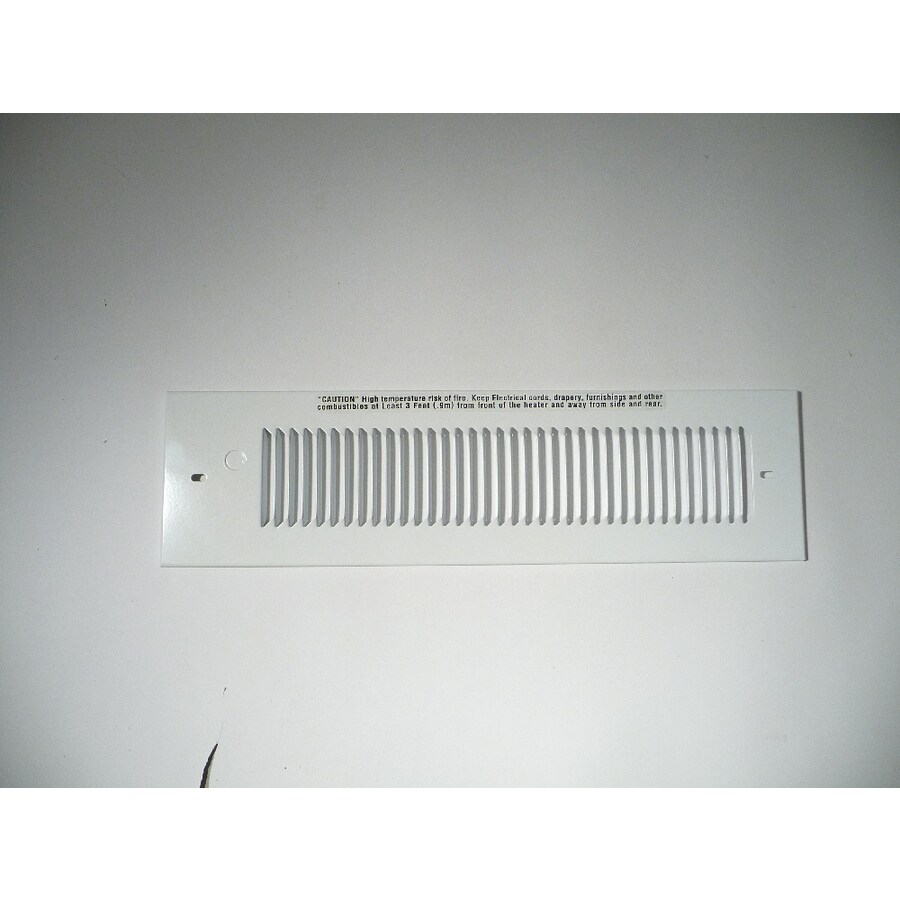 King White Steel Louvered Sidewall/Ceiling Grille (Rough Opening: 13-in x 13.5-in; Actual: 13-in x 13.5-in)