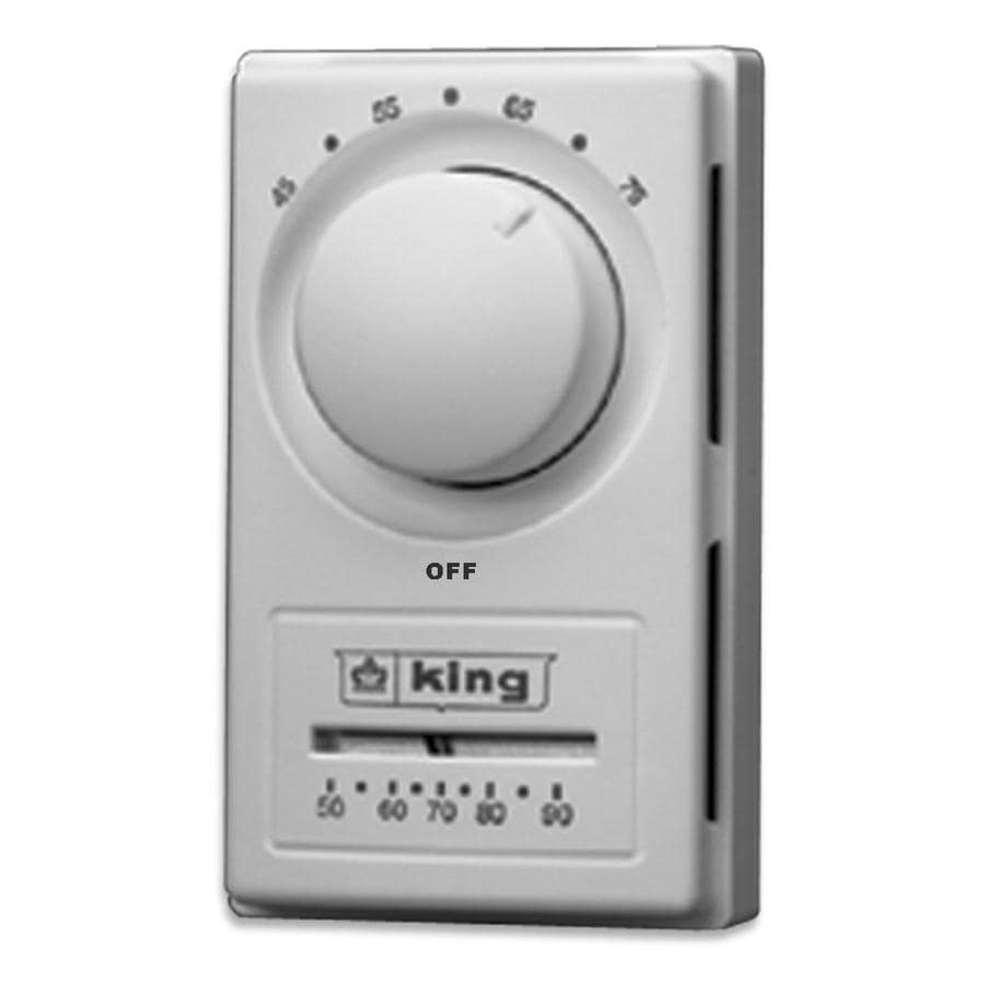 Shop King Mechanical Non-Programmable Thermostat at Lowes.com