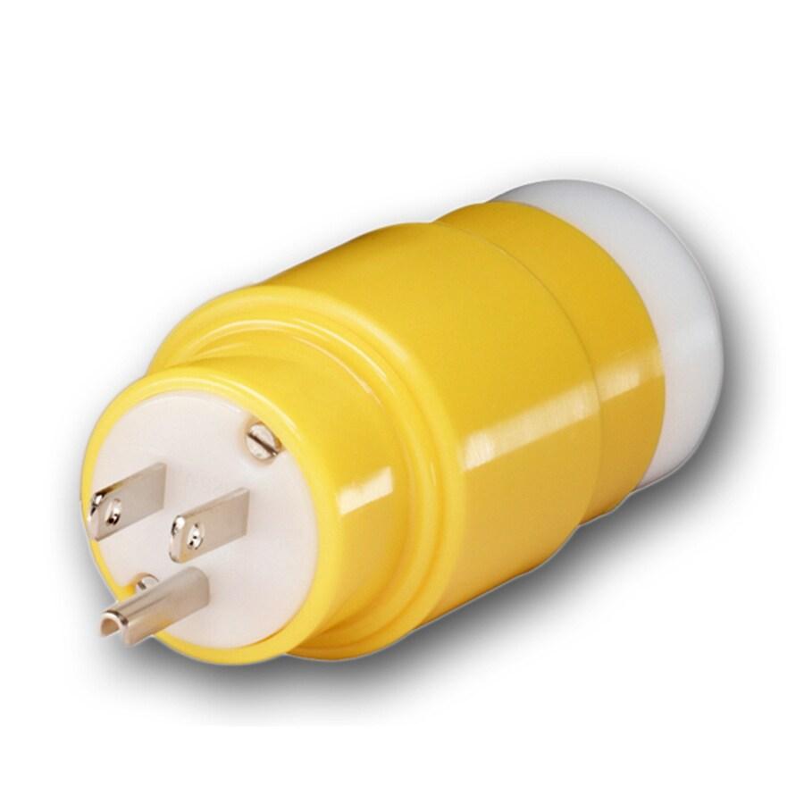 Gardner Bender 15-Amp 3-Wire Grounding Single to Single Yellow Basic Adapter