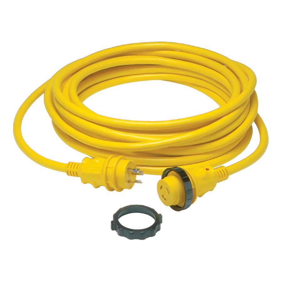 Gardner Bender 25-ft 30-Amp 10-Gauge Yellow Outdoor Extension Cord